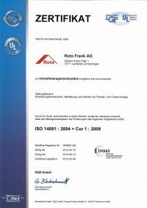 Certificación Roto Frank