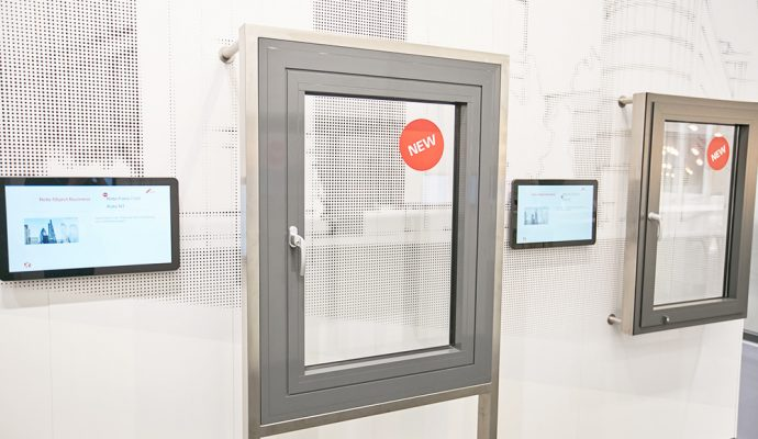 Solución especial de ventana de aluminio con apertura exterior