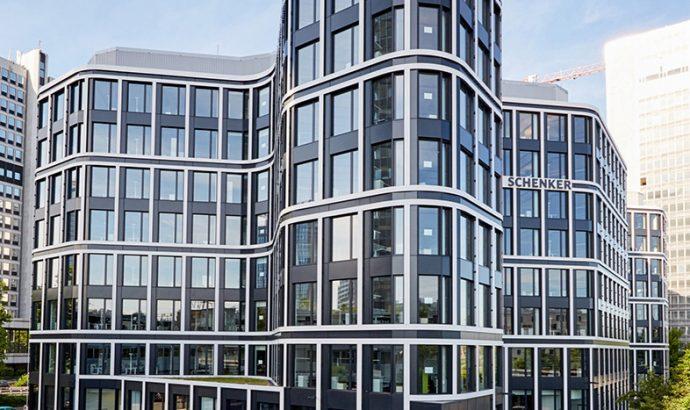 Proyecto 'The Grid': modernas ventanas de aluminio, en Essen