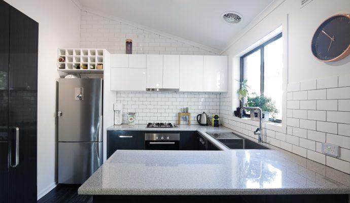 Ventanas de aluminio modernas para el baño y la cocina