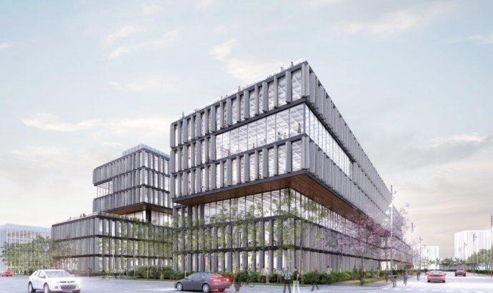 Bio-Esfera, más 1.000 ventanas de aluminio para un complejo de oficinas en Guadalajara